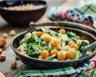 Salade de pois chiches et oignons aux 3 épices