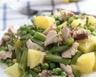 Salade de pommes de terre au thon haricots et petits pois