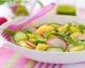 Salade de pommes de terre concombre radis et roquette
