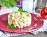 Salade de pommes de terre jambon carottes façon russe