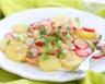 Salade de pommes de terre minceur aux radis et concombre