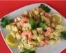 Salade de pommes de terre oeufs et crevettes