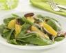 Salade de pousses d'épinards oranges et noix minceur
