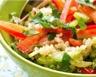 Salade de quinoa aux 2 poivrons et tomates séchées