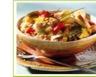Salade de riz aux pommes à la banane et au jambon