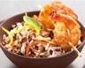 Salade de Riz de Camargue IGP aux poivrons et crevettes grillées
