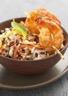 Salade de Riz de Camargue IGP aux poivrons et crevettes grillés