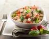 Salade de riz minceur au tofu tomates et olives