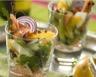 Salade de saumon fumé aux pommes et à l'orange