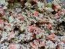 Salade fraîche quinoa concombre carotte et chèvre frais