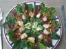 Salade fraîcheur au magret de canard pousses d'épinard et fraises