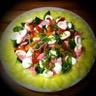 Salade fraicheur mâche concombre poivrons oignons