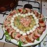 Salade fruitée et sa tartine de chèvre chaud
