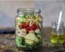 Salade jar au poulet pommes de terre et tomates cerises