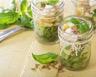 Salade jar aux farfalle petits pois et feta
