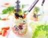 Salade jar aux olives tomates séchées et mozzarella