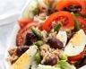 Salade légère de thon tomates oeufs durs et haricots verts