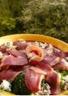 Salade printannère aux brocolis et magrets de canard