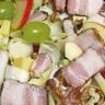 Salade sucrée salée aux rillons