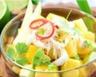 Salade sucrée salée mangue crabe