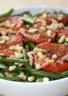 Salade tède de haricots verts aux tomates et aux pignons