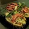 Salade thaï aux crevettes et à l'ananas