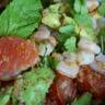 Salade thaï aux crevettes pamplemousse et menthe