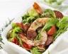 Salade tiède au chorizo et aux crevettes