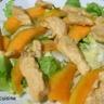 Salade tiède de poulet à la mangue