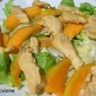 Salade tiède sucrée-salée de poulet et mangue