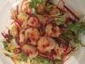 Salade verte aux noix de St-Jacques et safran