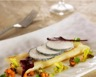 Salsifis rôtis voile de Crottin de Chèvre Cendré Rians sauce vierge automnale