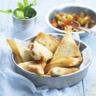 Samossas aux légumes grillés épices douces et bûche de chèvre Chavroux®