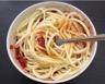 Sauce tomate séchée-poivron express et spaghetti de courgettes