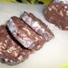 Saucisson au chocolat savoureux