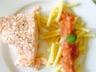 Saumon à la sauce tomate et basilic