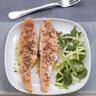Saumon écossais Label Rouge mi cuit au carvi jeunes pousses d'épinard et pomme verte au citron