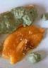 Saumon sauce au thé matcha melon confit