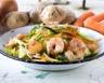 Sauté aux crevettes et aux légumes express