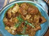 Sauté de porc au curry et au lait de coco