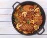 Sauté de porc aux champignons tomates et curry