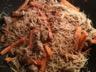 Sauté de porc vermicels et légumes au wok