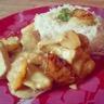Sauté de poulet ananas sauce curry coco