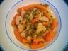 Sauté de volaille aux petits pois carottes