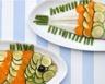 Sole en écailles de légumes