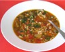 Soupe à l'orge et aux lentilles pauvre en sel