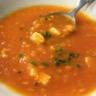 Soupe à la carotte aux lentilles corail et au tofu