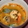Soupe acidulée aux crevettes