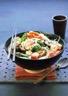 Soupe asiatique de crevettes et de calamar