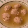 Soupe aux boulettes de pommes de terre